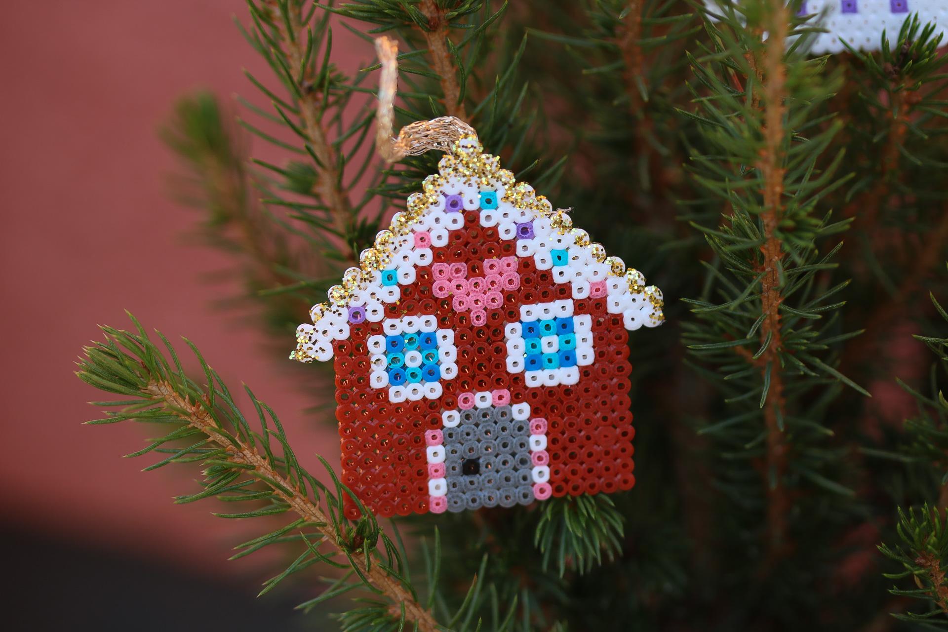 Mini pärlplattor Jul