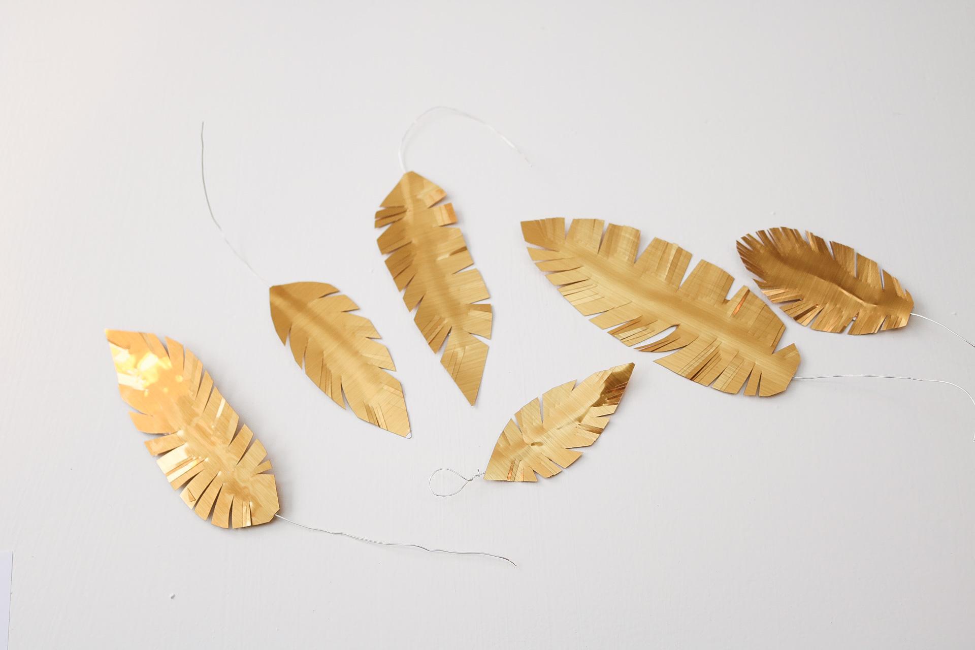 Diy: pappersfjädrar