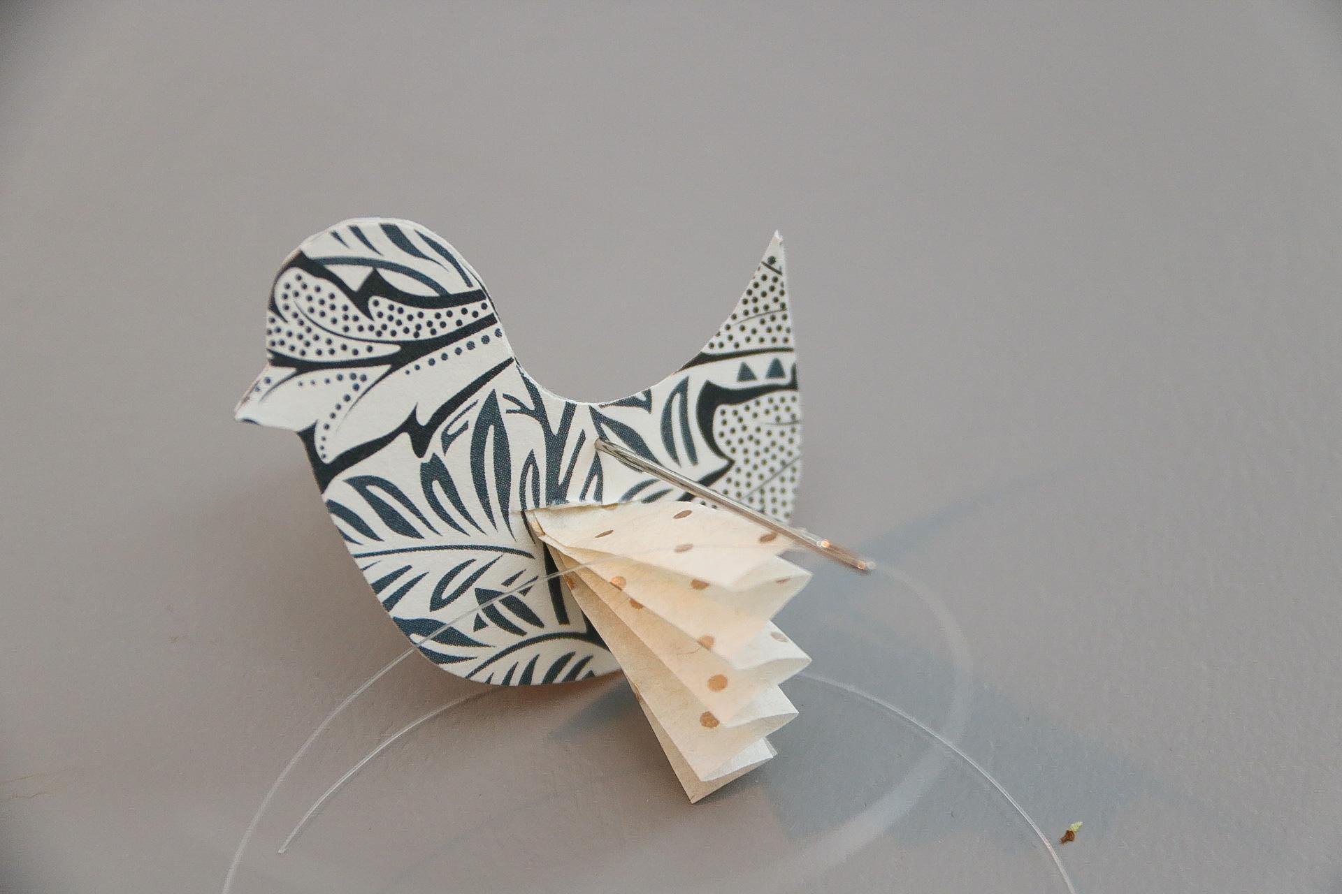 Påaskpyssla pappersfåglar