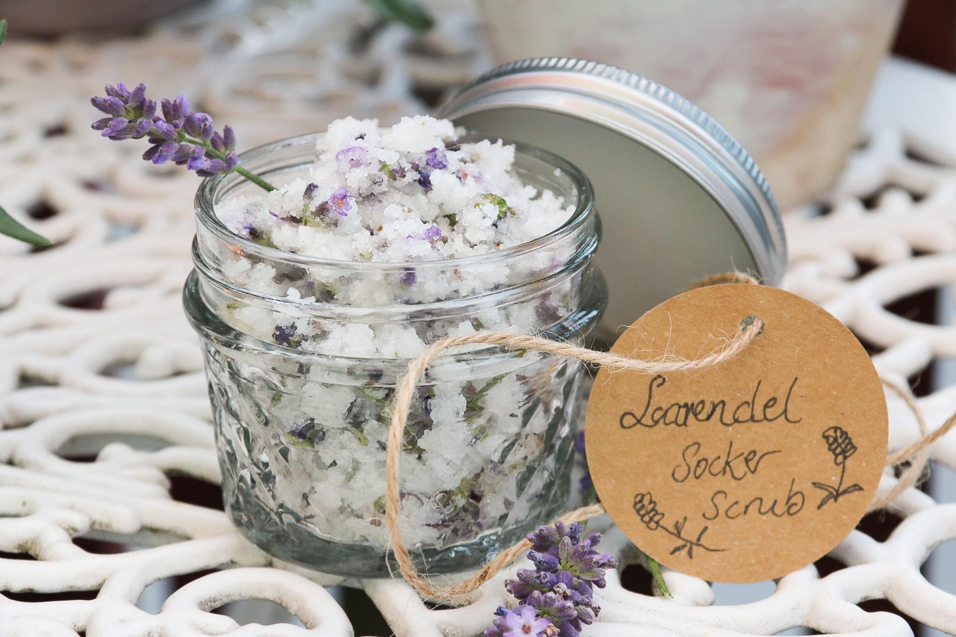 Lavendel sockerscrub