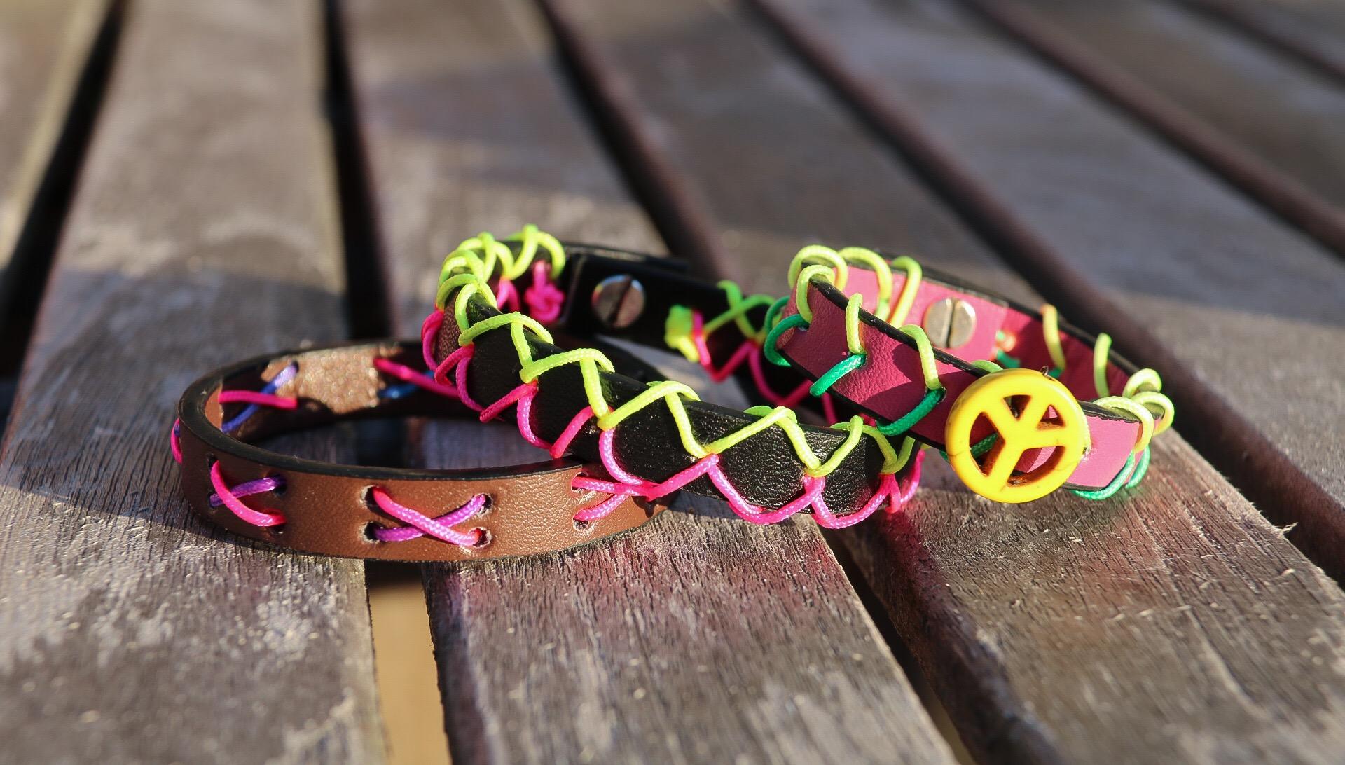 Pyssla läderarmband