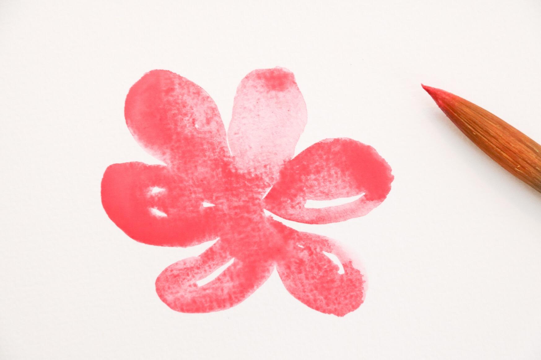 Akvarellmålning - blommar