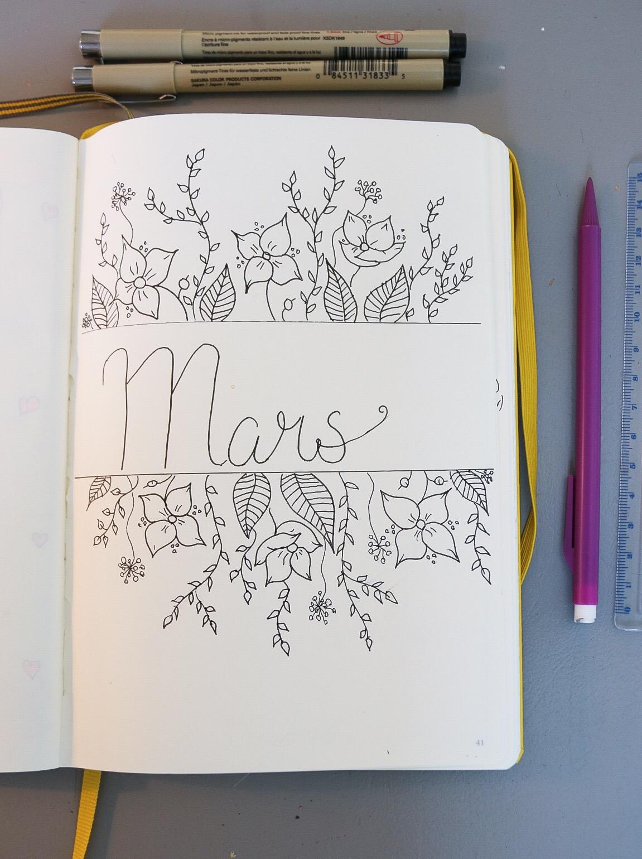 Mars Bullet Journal