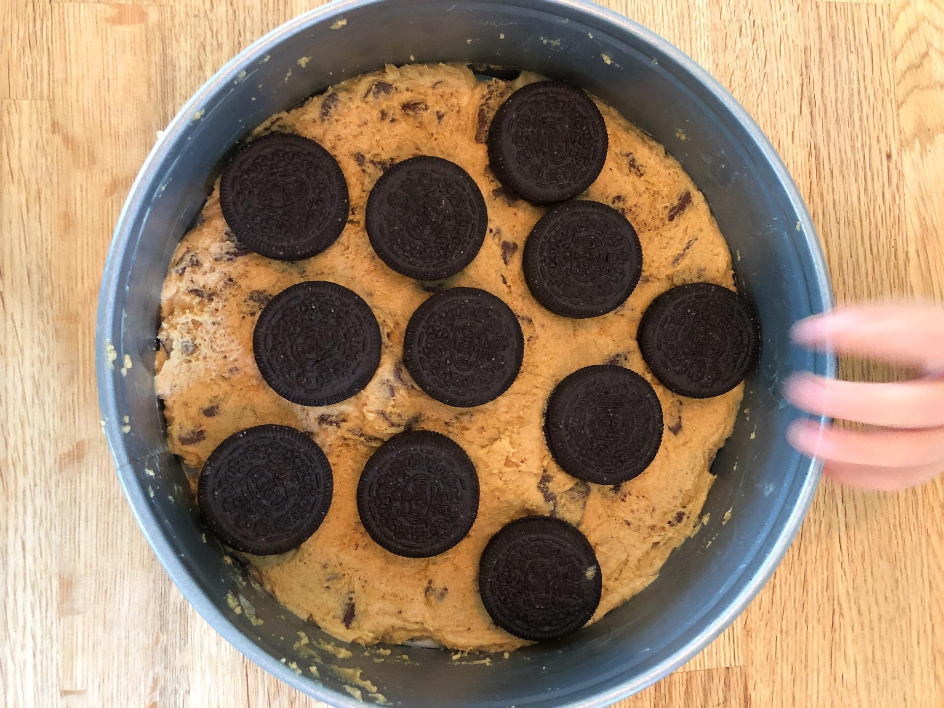 Oreo Cookie Dough Brownie