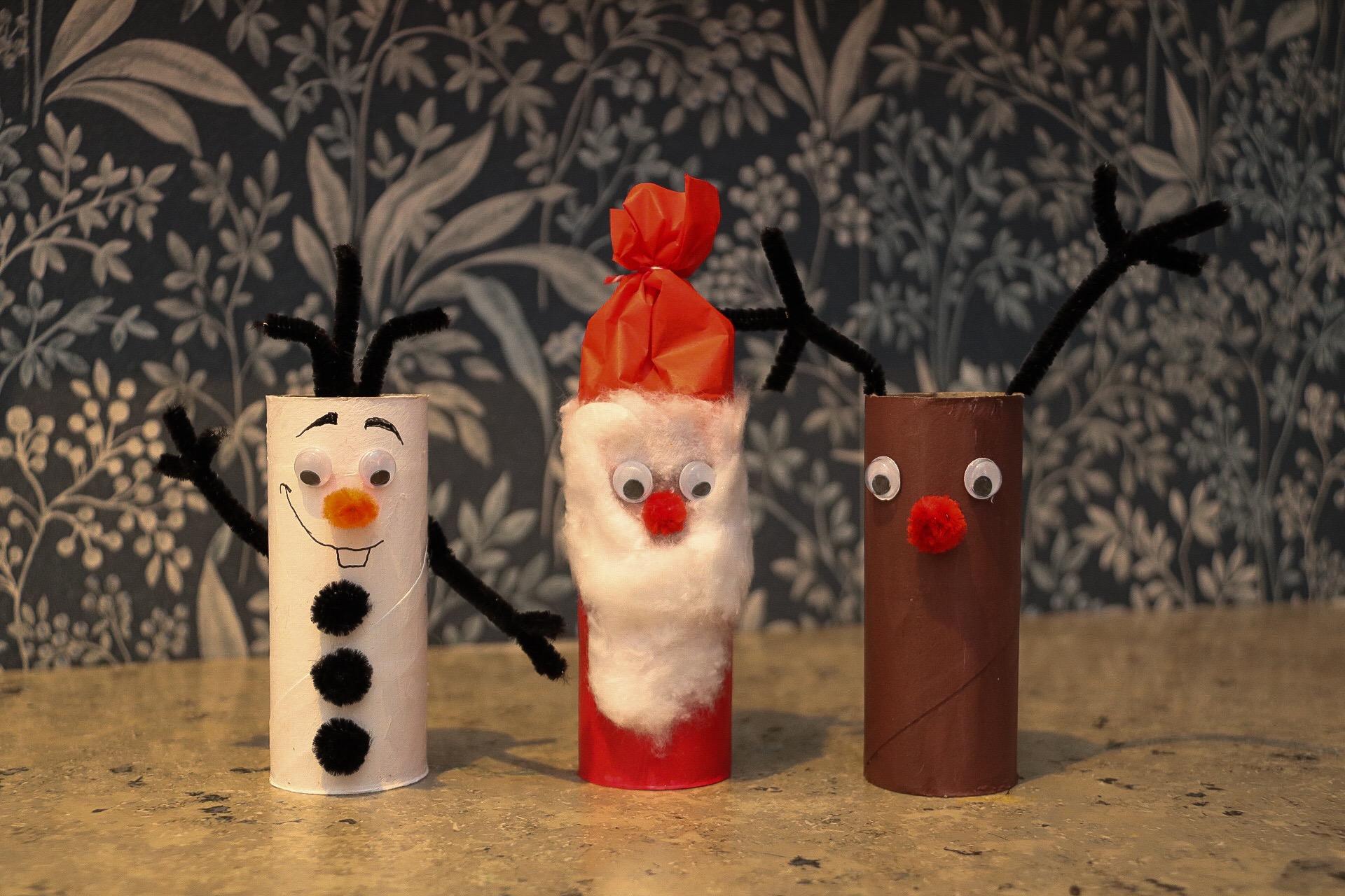 Julpyssel med toarullar