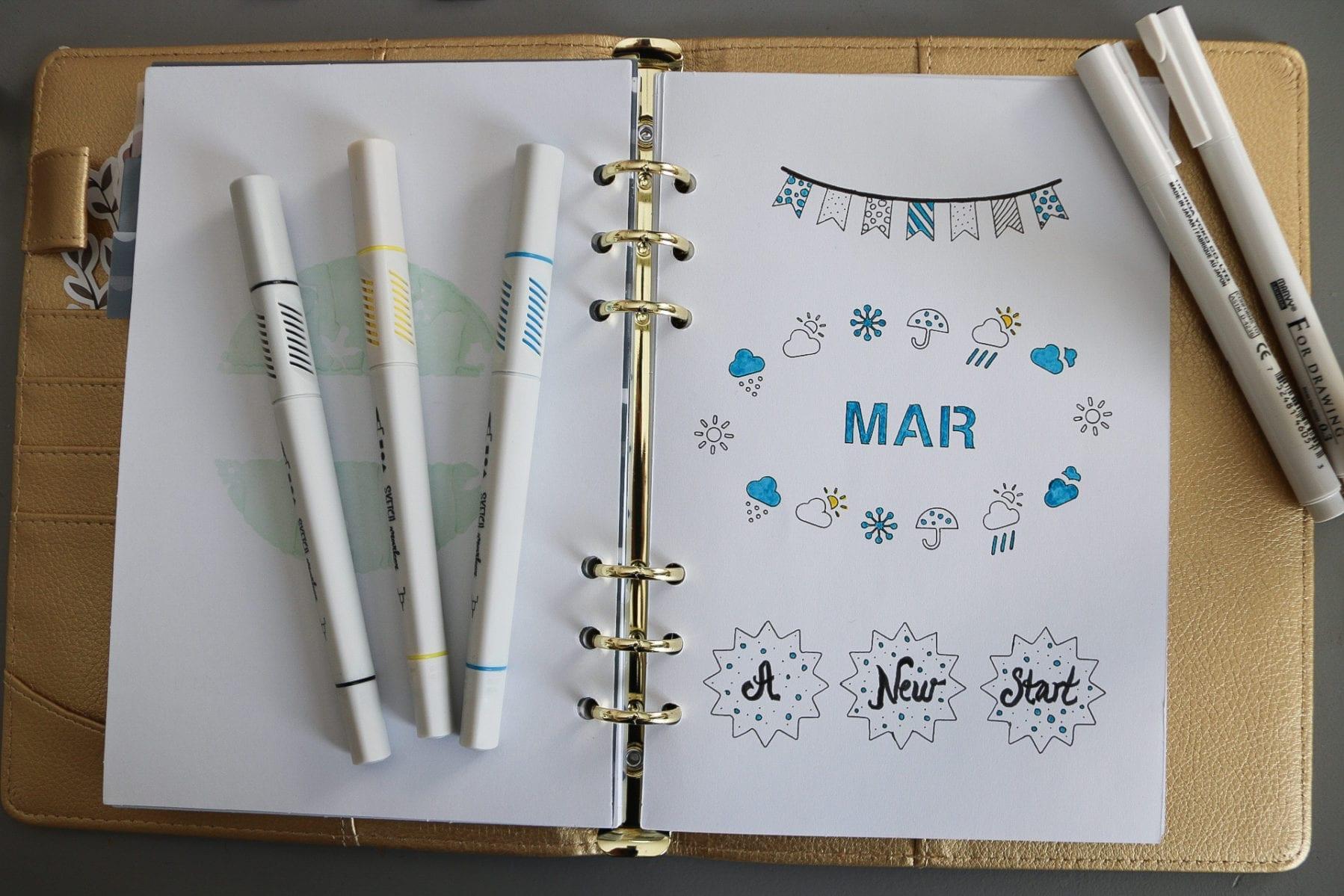 Bujo - en kreativ kalenderl