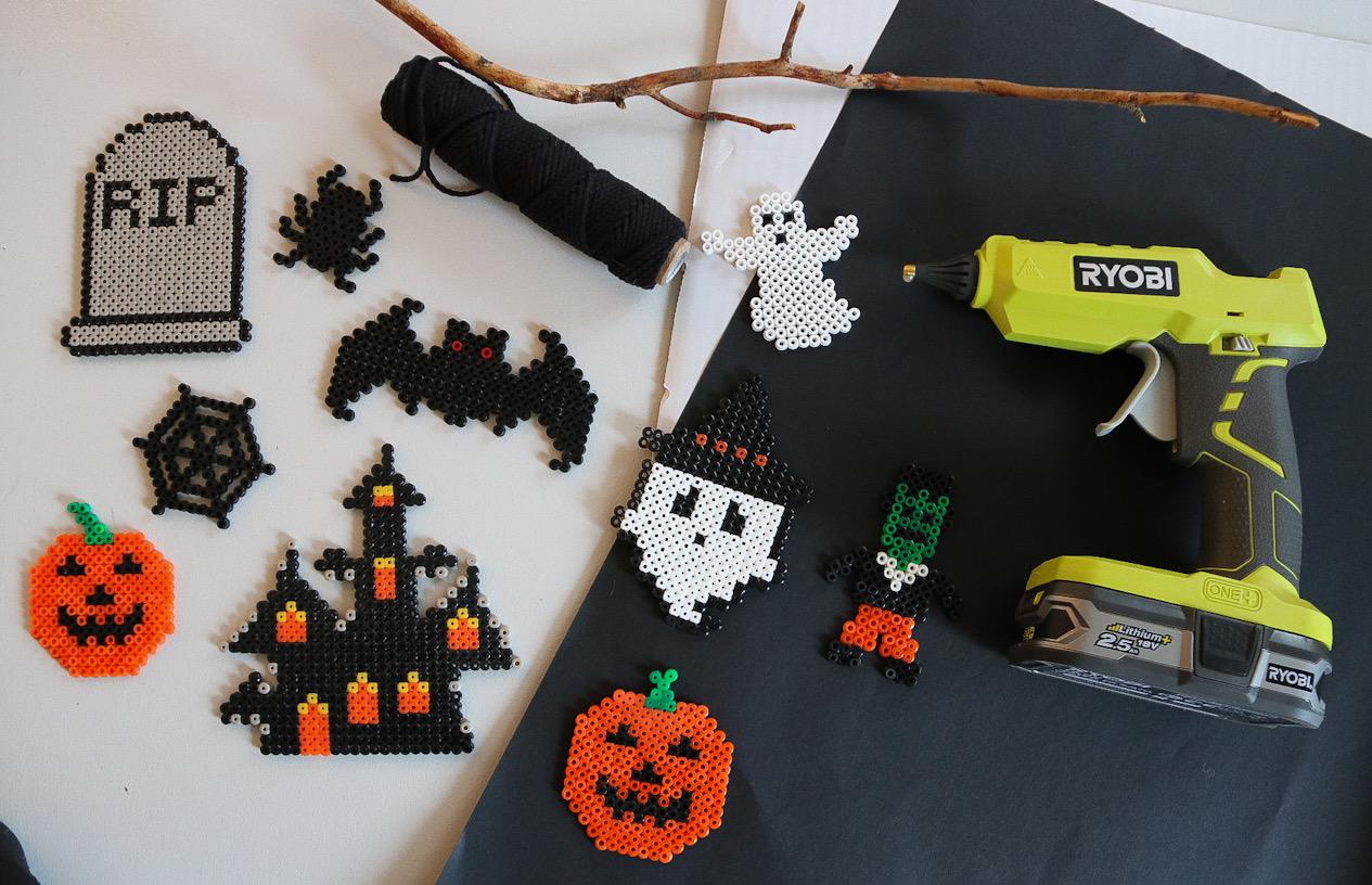 Halloweenpärlplattor