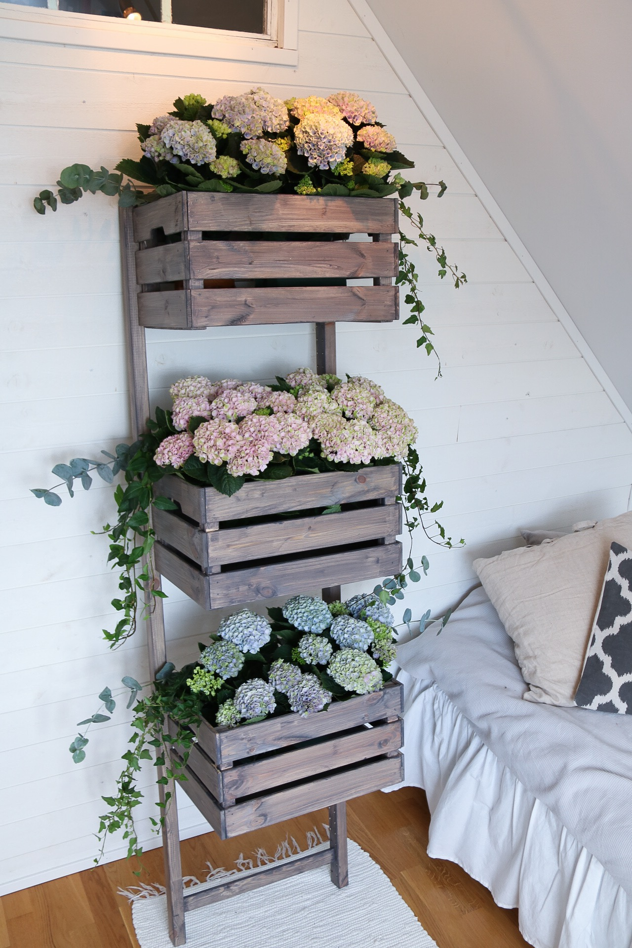 Bygg en blomhylla