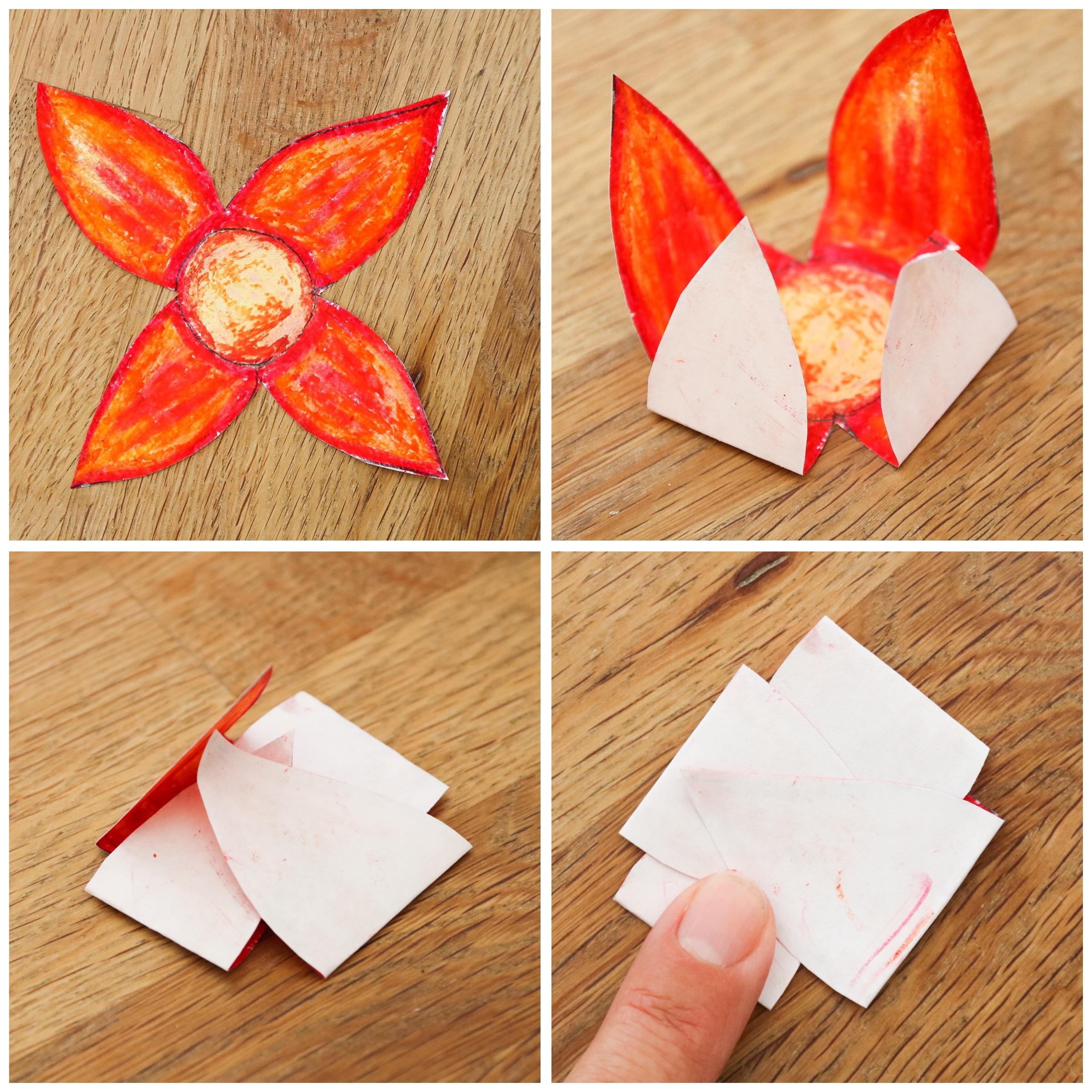 Flytande pappersblommor