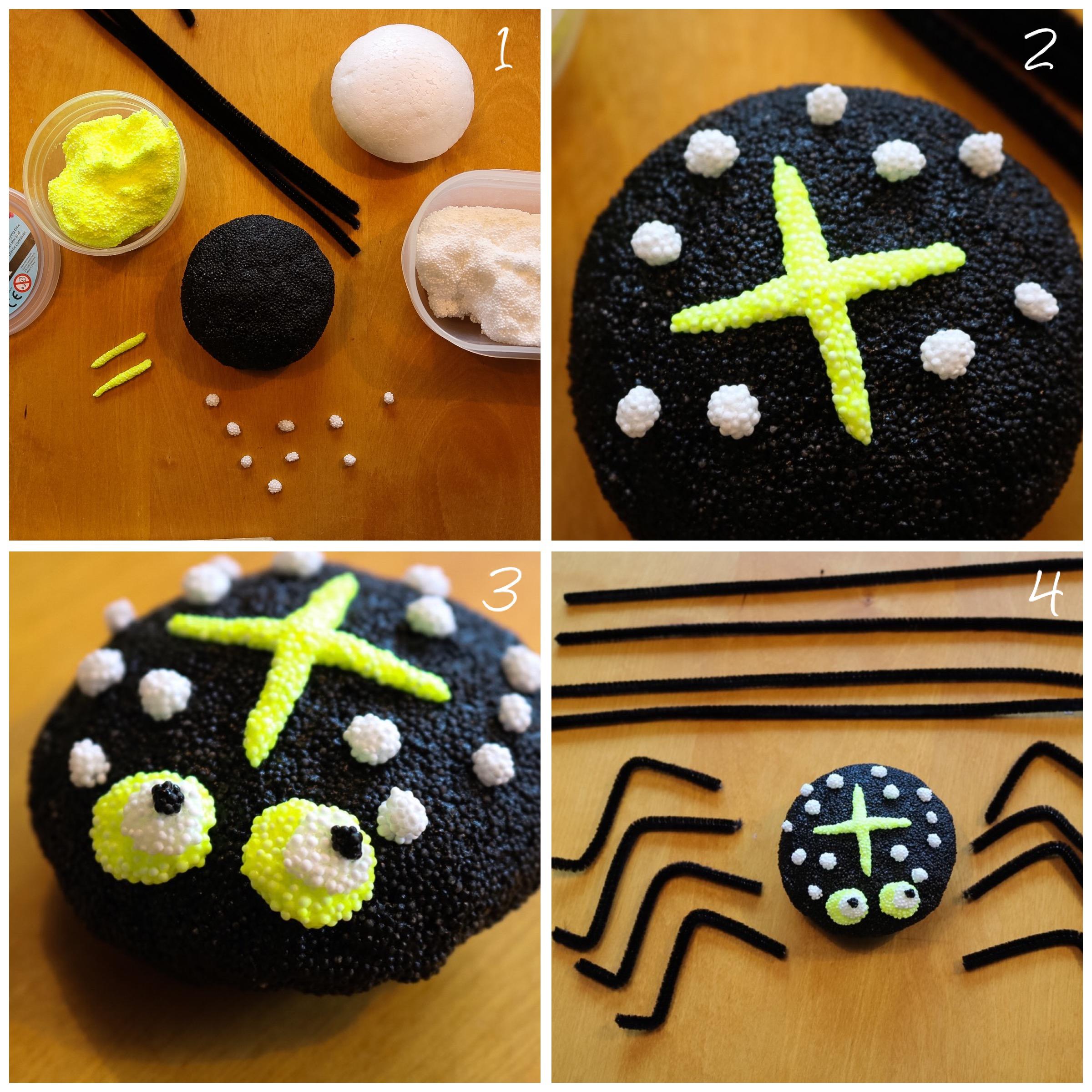 Halloweenpyssla med Foam clay
