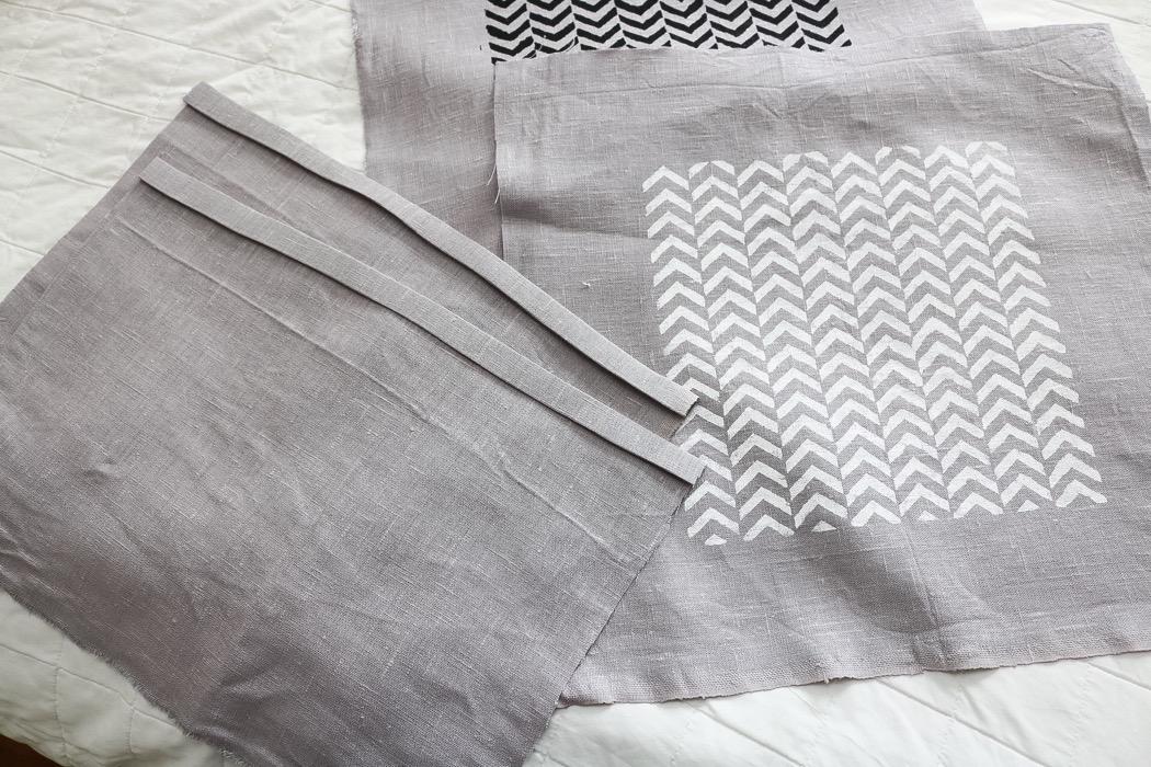 Diy: kuddar med textiltryck