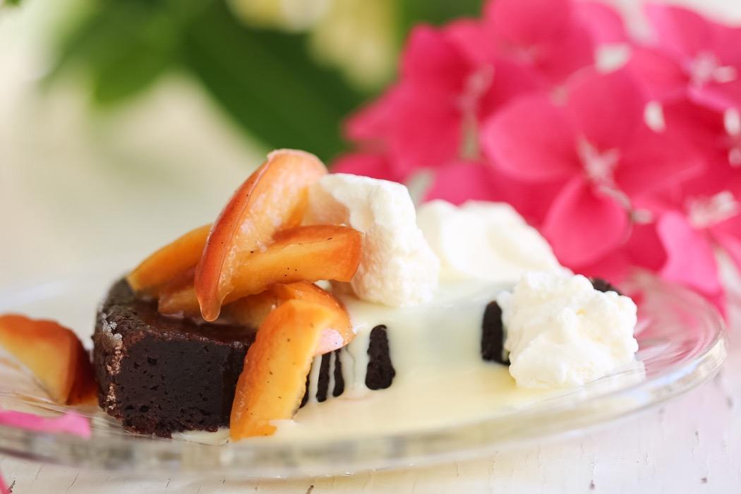 Brownie vaniljkokta nektariner