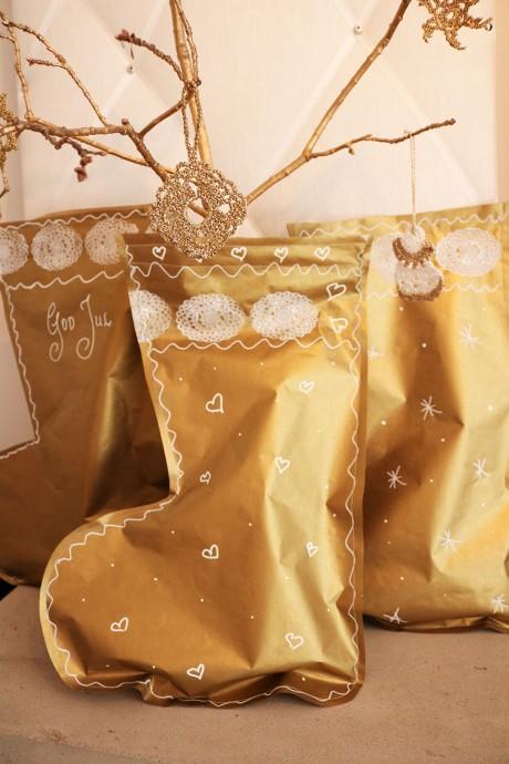 julstrumpa som paket