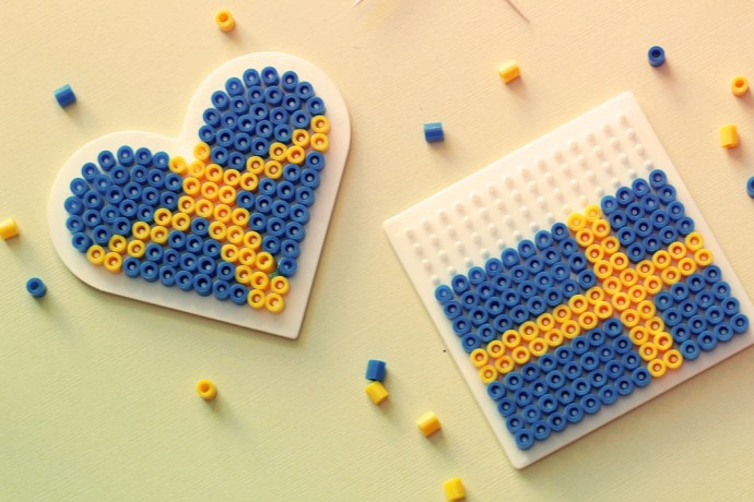 svenska flaggan pärplatta