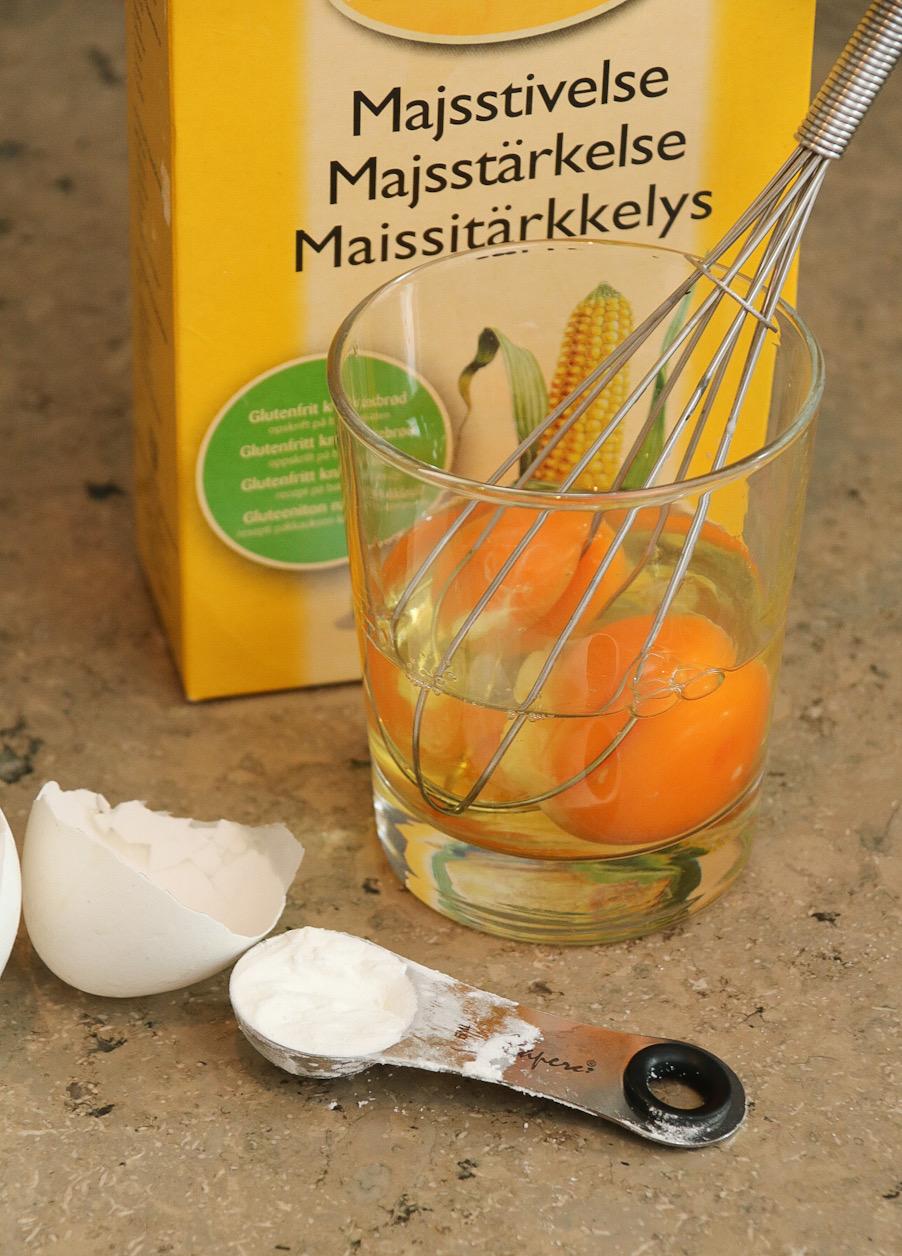 Blanda ägg och maizena