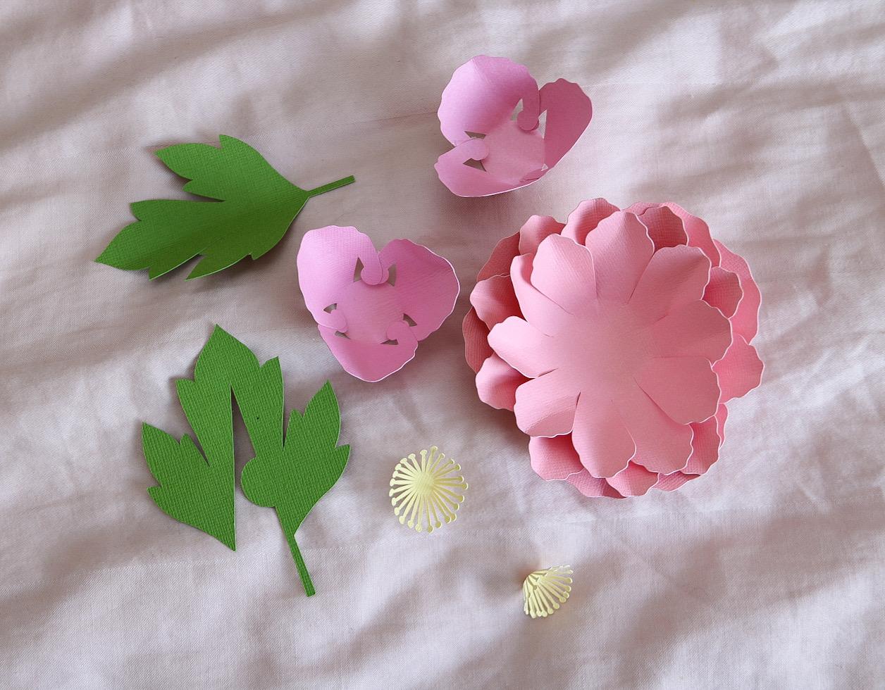 Sätt ihop blommorna Cricut