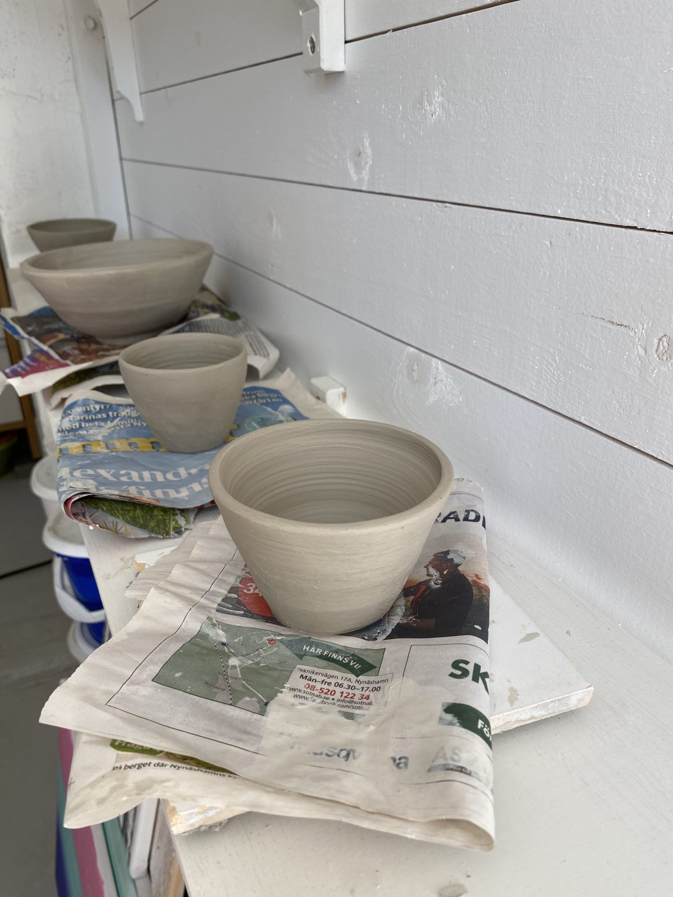 Keramik på tork