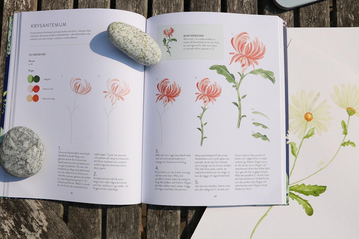 Måla akvarell blommor