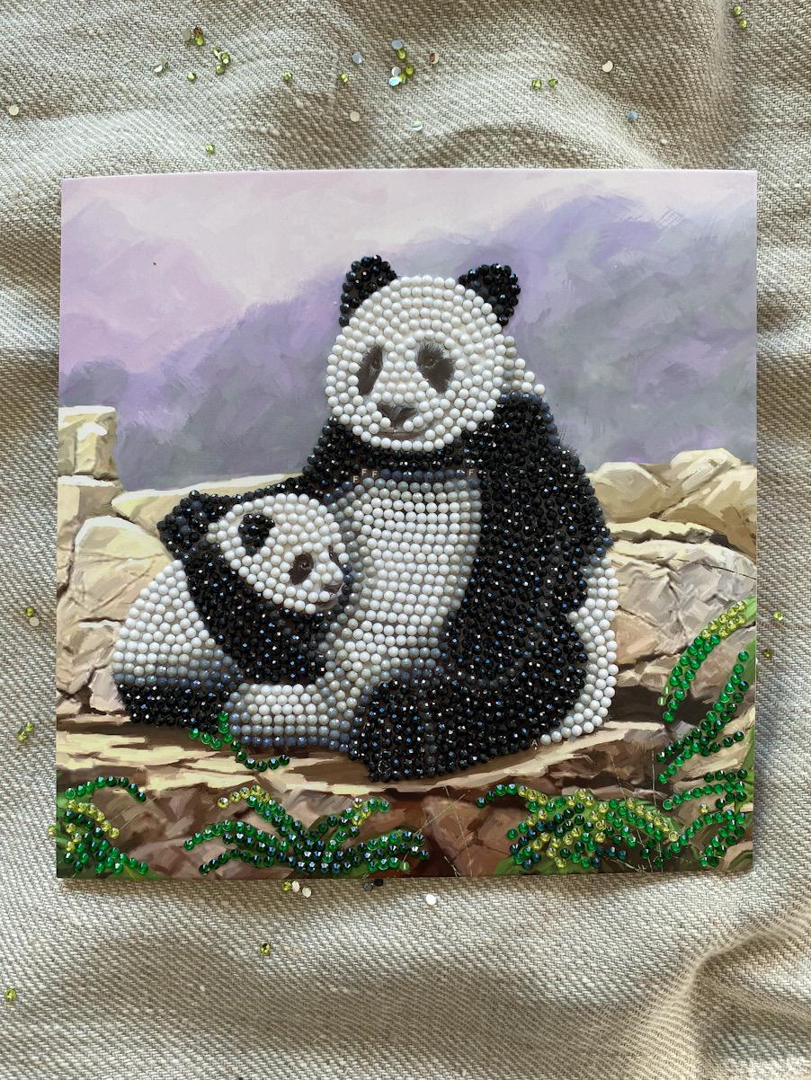 Panda diamanttavla